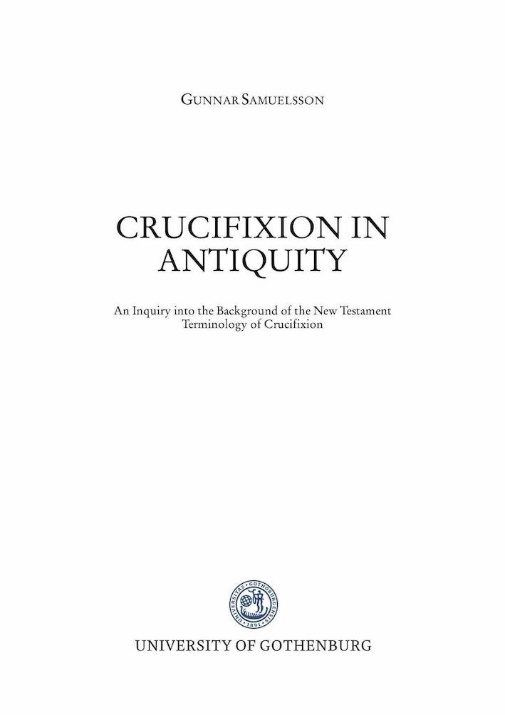 Crucifixion in Antiquity