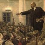 (1 - Στείλε Πακέτο Έκπληξη!) Ο Λένιν στα κεντρικά γραφεία των Μπολσεβίκων, τον Οκτώβριο του 1917 (πίνακας του Wladimir Serow).