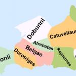 (9 - Διάβαζε τα Μικρά Γράμματα) Χάρτης με τα κέλτικα φύλα της νότιας Αγγλίας, κατά τον 1ο αιώνα μ.Χ.